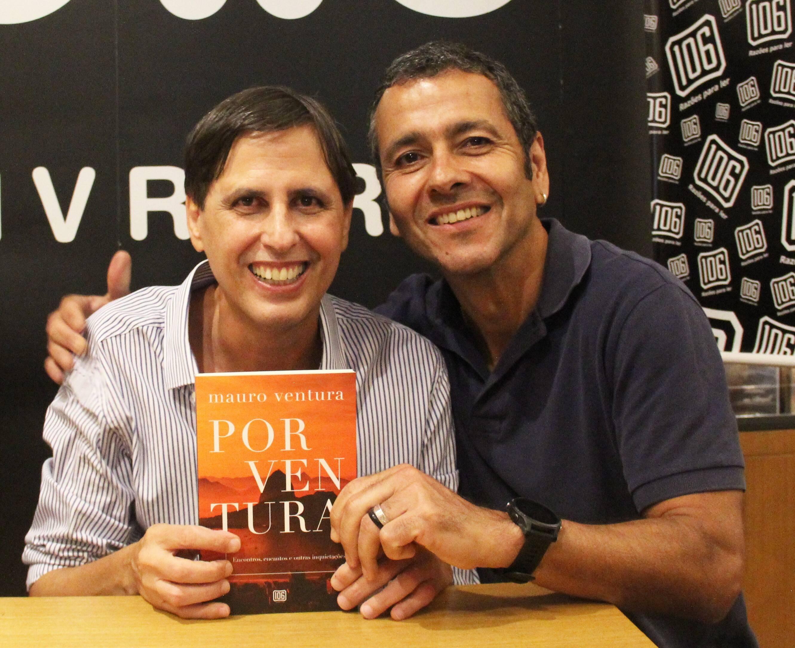 Mauro Ventura e o ator Marcos Palmeira /Foto: Marcelo Brandão
