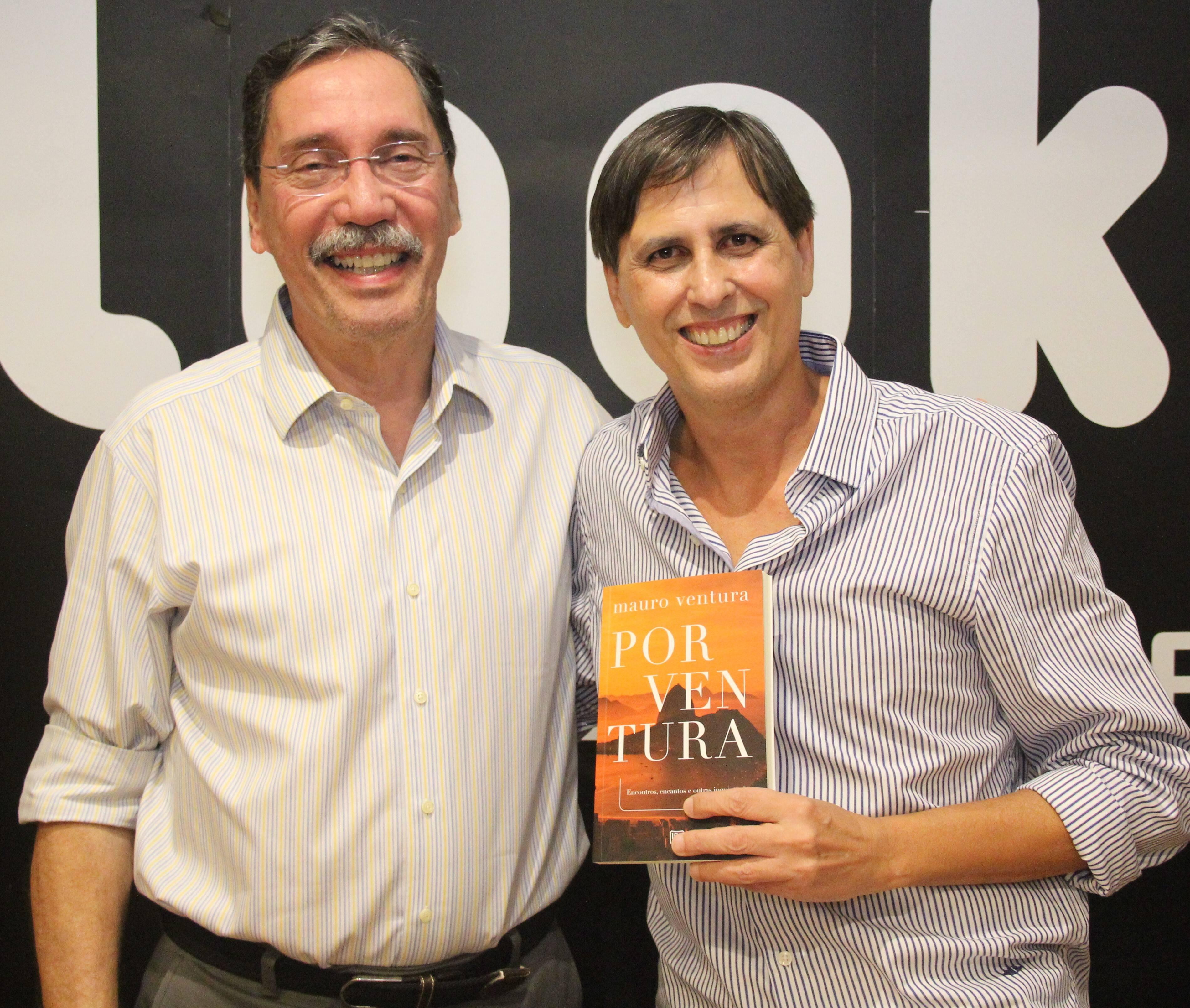Mauro Ventura e o acadêmico e diretor de jornalismo da TV Globo, Merval Pereira /Foto: Marcelo Brandão