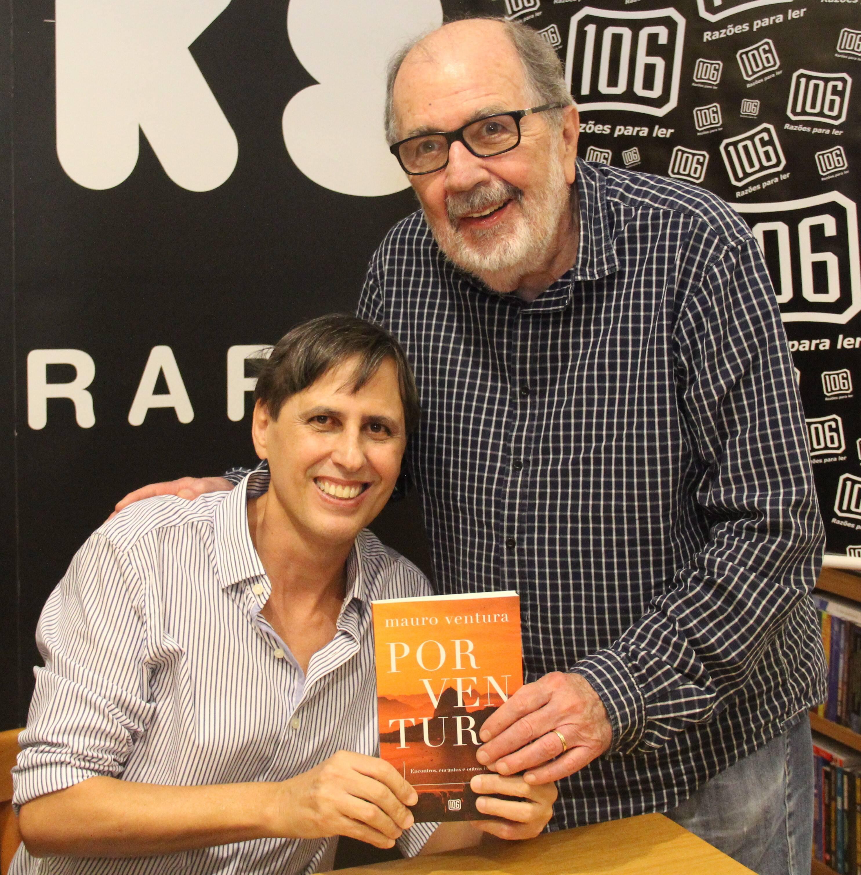 Mauro com o cineasta Cacá Diegues /Foto: Marcelo Brandão