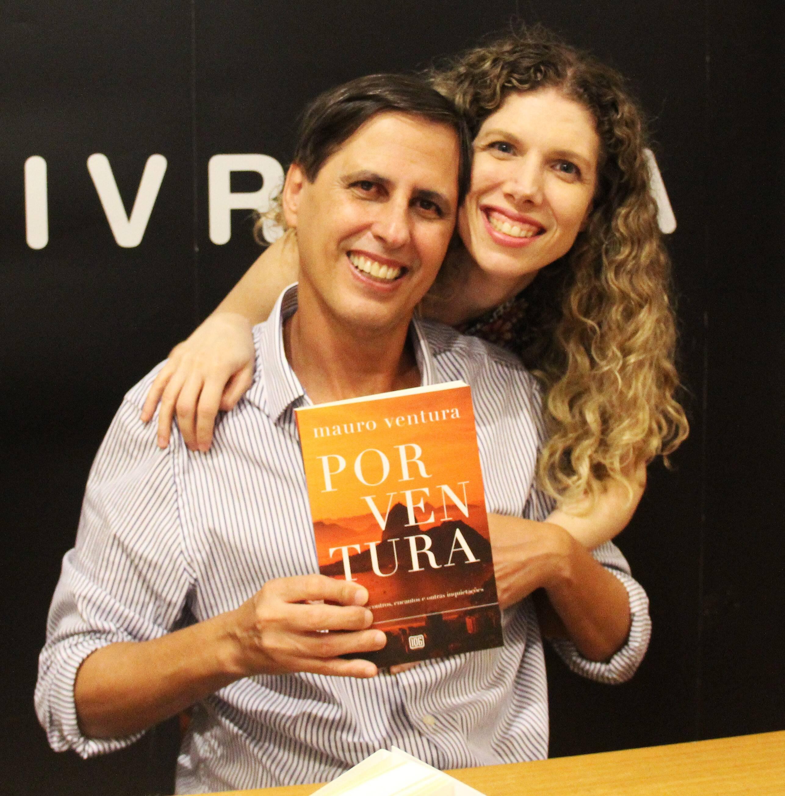 Mauro com a mulher, Ana Roditi /Foto: Marcelo Brandão