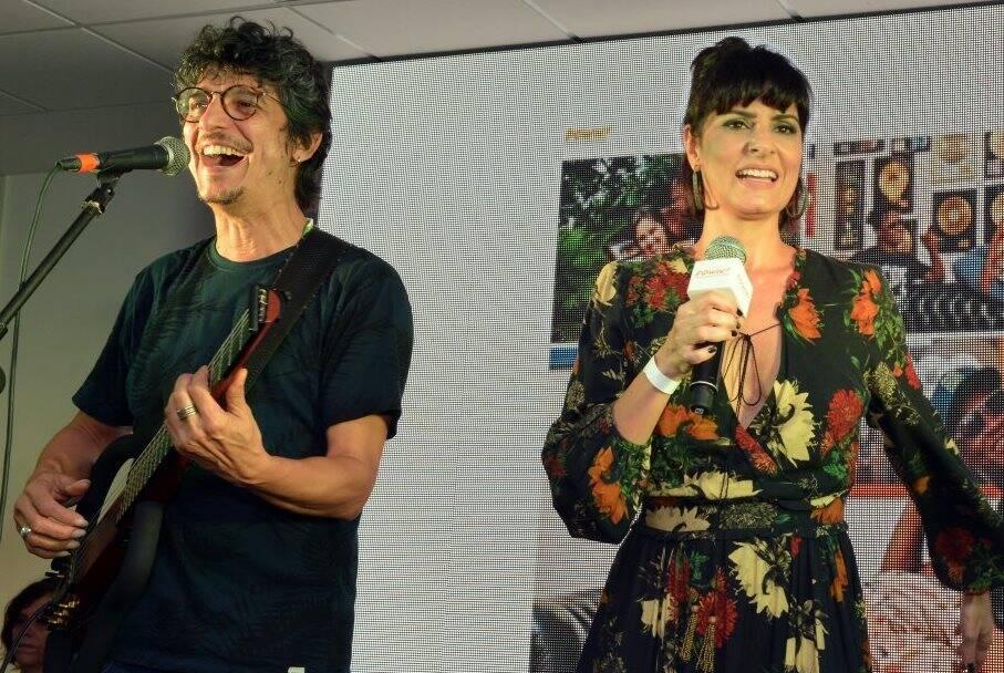 Pedro Luís e Fernanda Abreu
