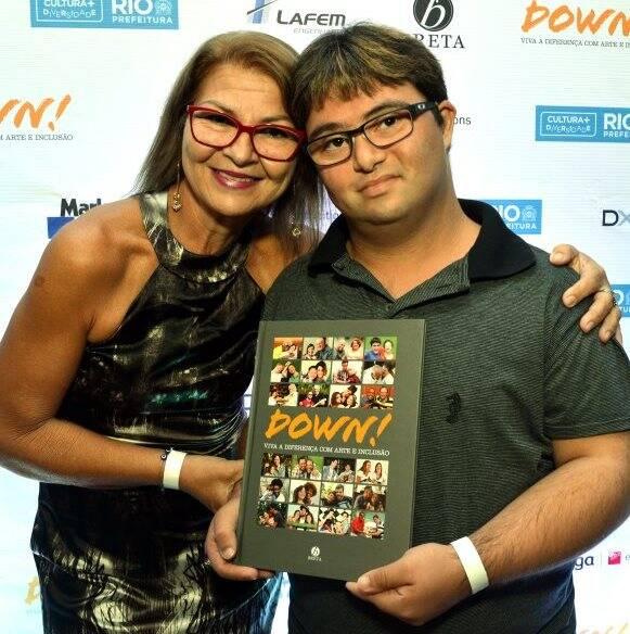 Elieuza Dias com o filho Rafael