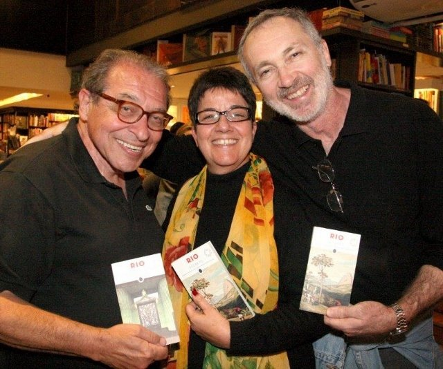 Ruy Castro, Heloisa Seixas e Antonio Negreiros