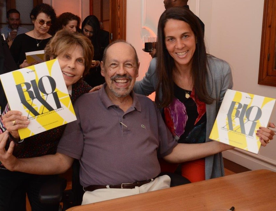 Paulo Herkenhoff entre Hecilda e Martha Fadel /Foto: Marco Rodrigues