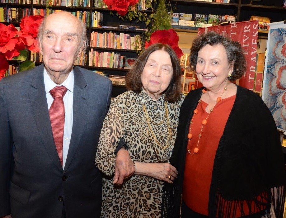 Candido Mendes de Almeida, Nélida Piñon e Margareth Dalcomo / Foto: Marco Rodrigues
