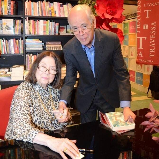 Nélida Piñon e João Vitorino Chermont de Miranda/  Foto: Marco Rodrigues
