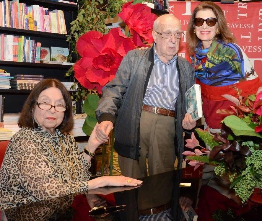 Nélida Piñon, Antonio Rodrigues dos Santos e Fernanda Basto / Foto: Marco Rodrigues