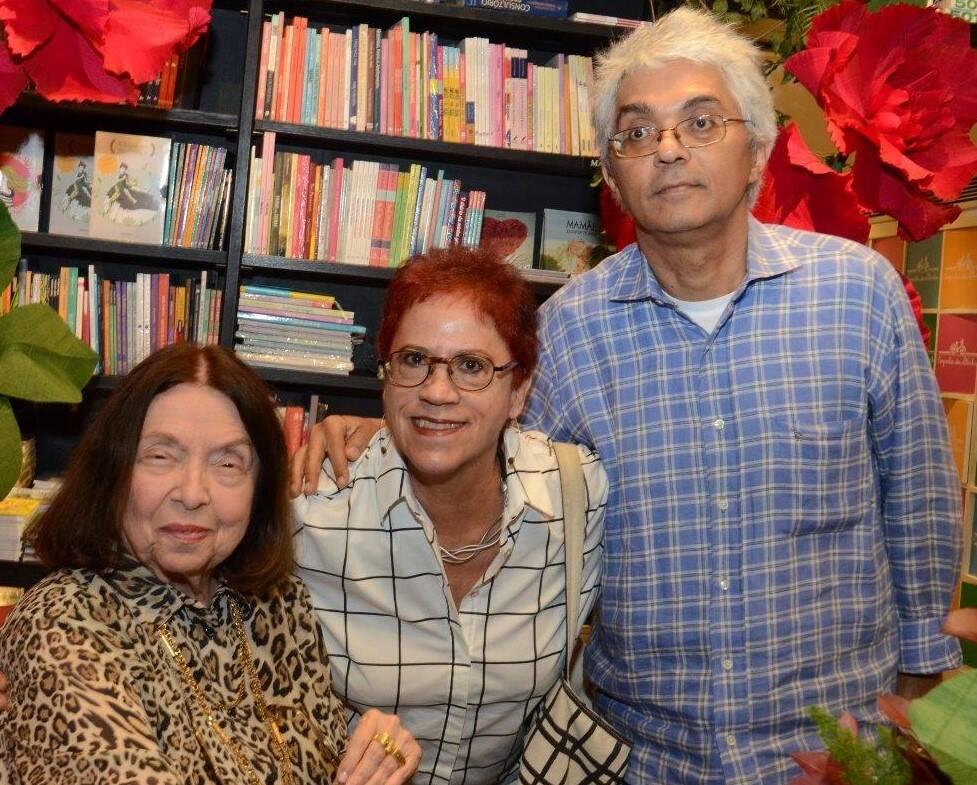 Nélida Piñon, Christina Ajuz e José Mario Pereira / Foto: Marco Rodrigues