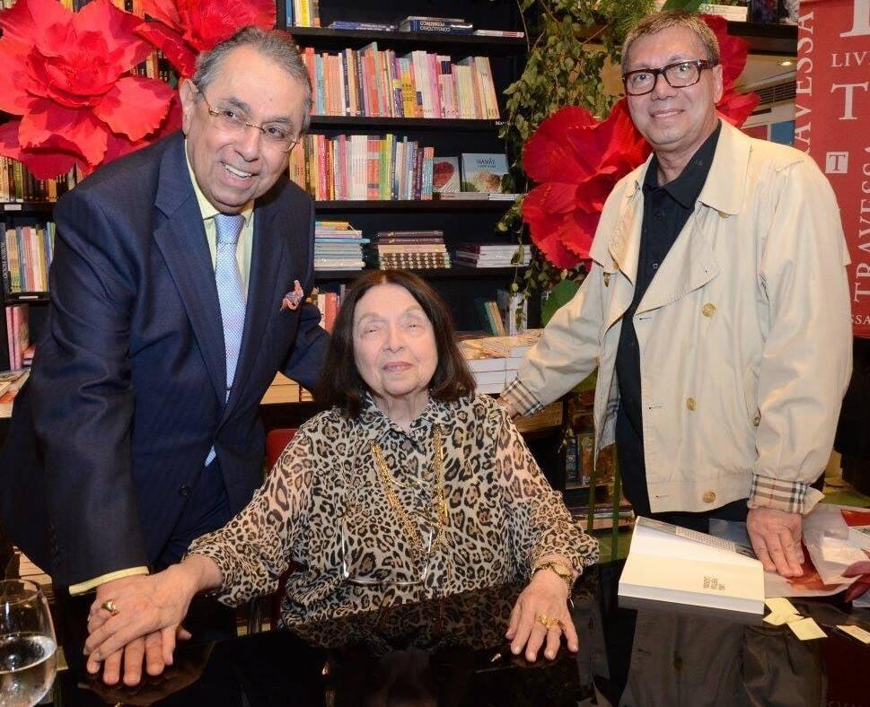 Roberto Halbouti, Nélida Piñon e Paulo Arguelles / Foto: Marco Rodrigues