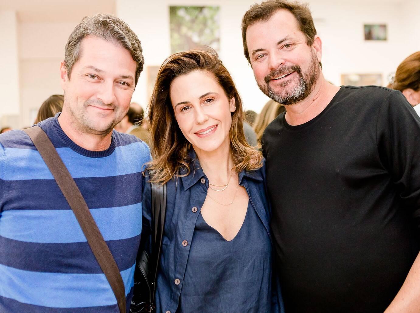 Marcelo Serrado, Guilhermina Guinle e Miguel Pinto Guimarães  /Foto: Bruno Ryfer