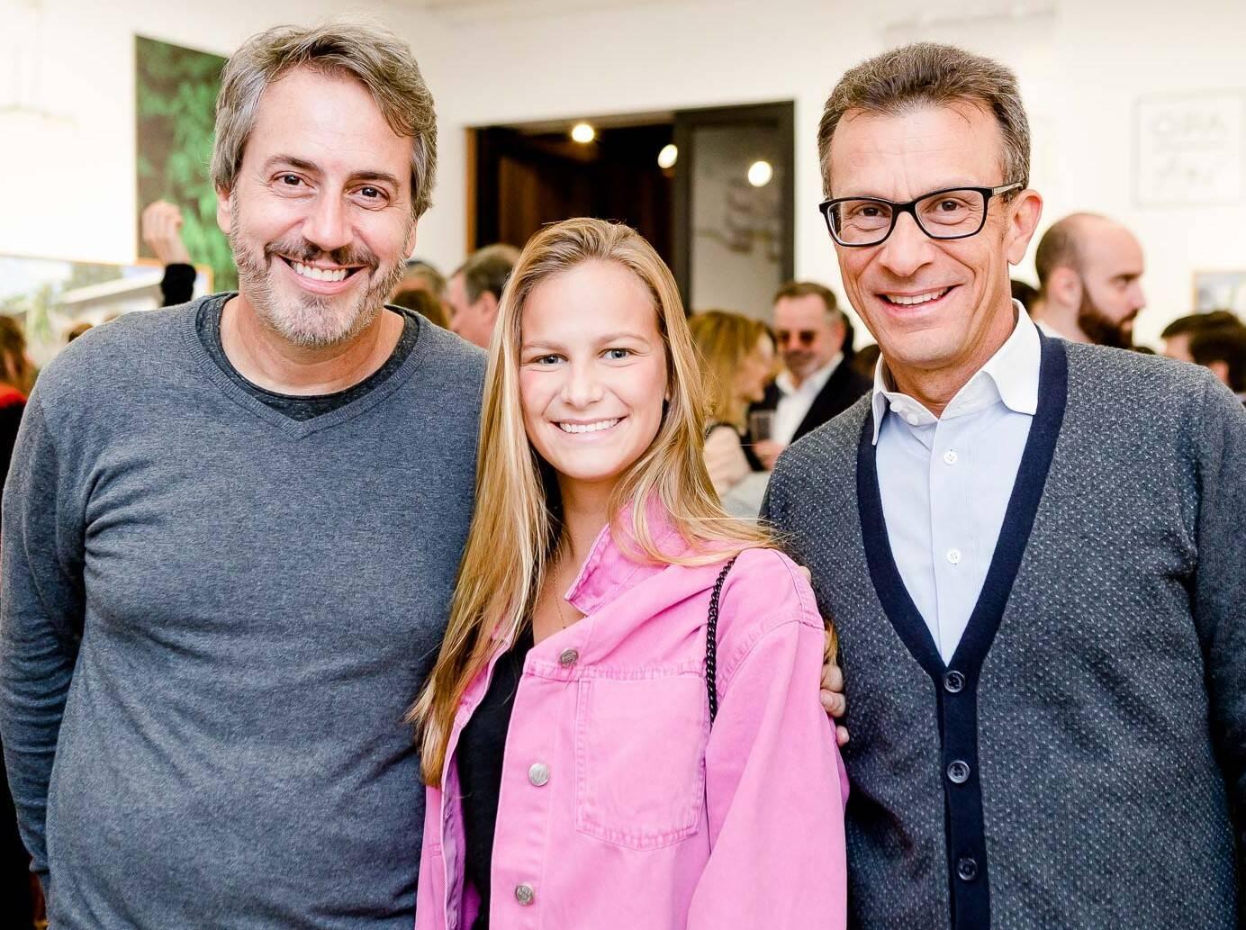 Sergio Conde Caldas, Maria Vitoria Pinheiro Guimarães e Plínio Pinheiro Guimarães  /Foto: Bruno Ryfer
