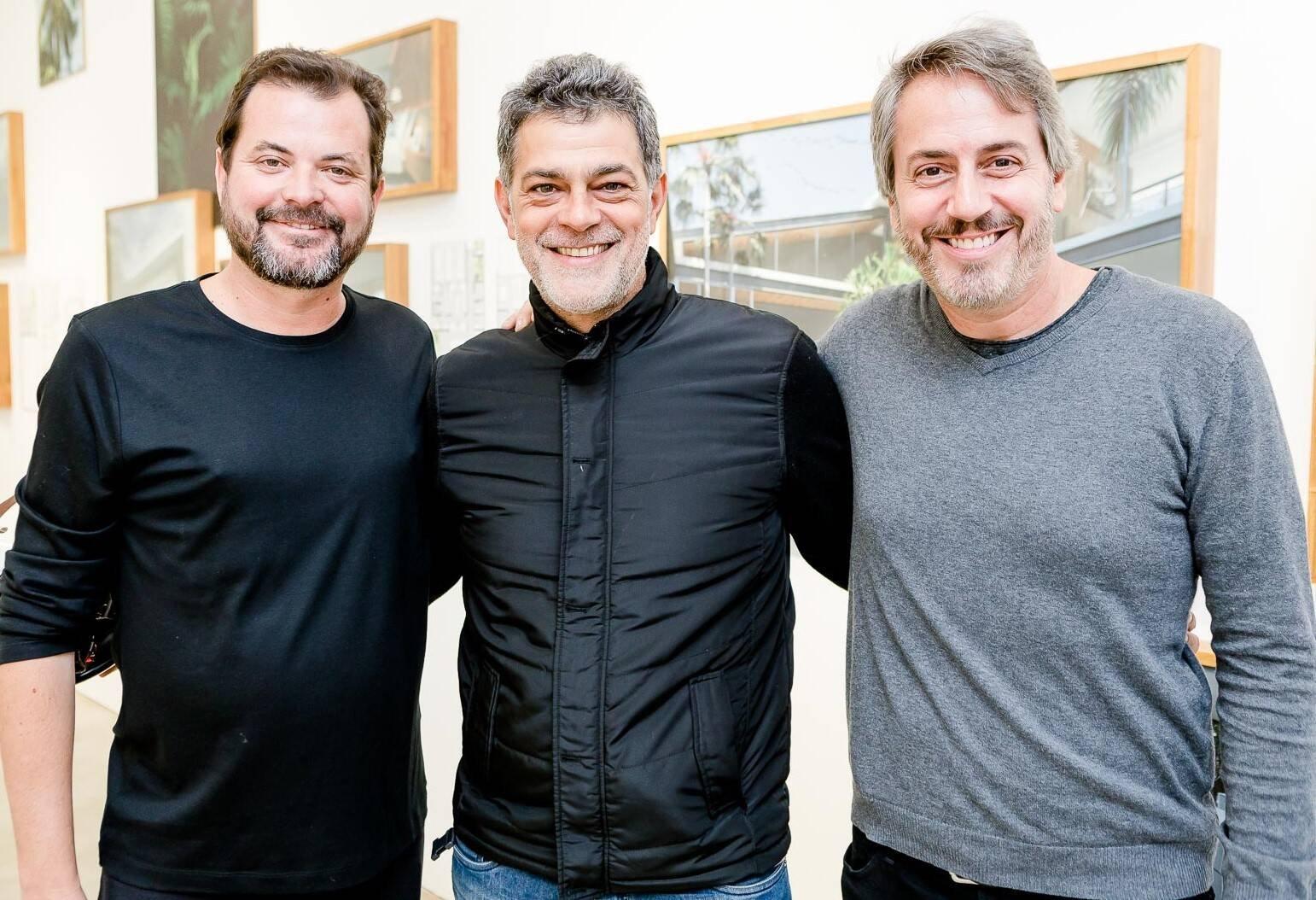 Miguel Pinto Guimarães, Du Moscovis e Sergio Conde Caldas  /Foto: Bruno Ryfer