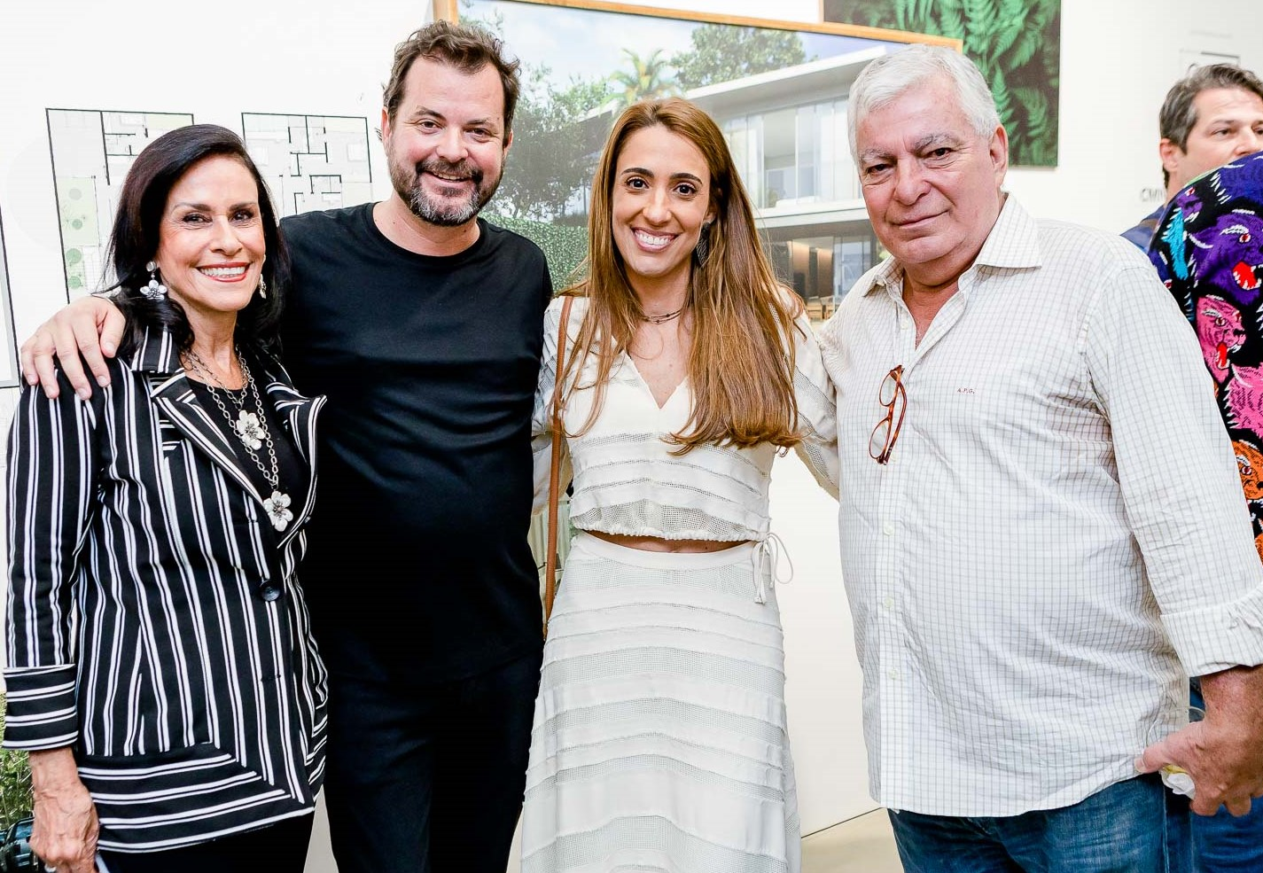 Beth Pinto Guimarães, Miguel Pinto Guimarães, Paula Marinho e Afonso Pinto Guimarães  /Foto: Bruno Ryfer