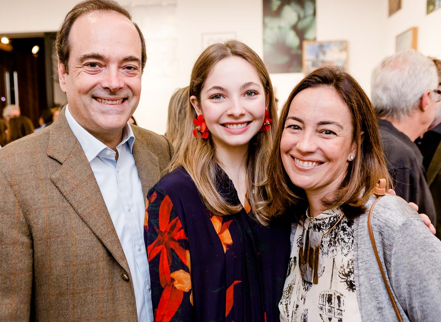 Carlos Roberto Osorio, Maria Osorio e Ana Luisa lobo  /Foto: Bruno Ryfer
