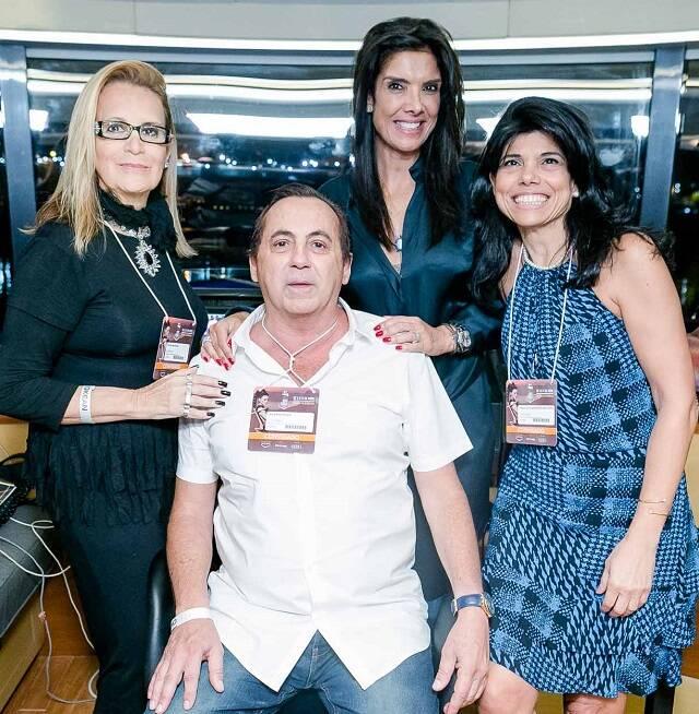 Fátima Martins, Ricardo Rique,  Patrícia Brandão e Ana Lúcia Azevedo Antunes