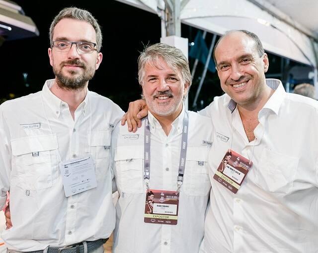 Paolo Ferragni, Nercio Fernandes e André Carvalho