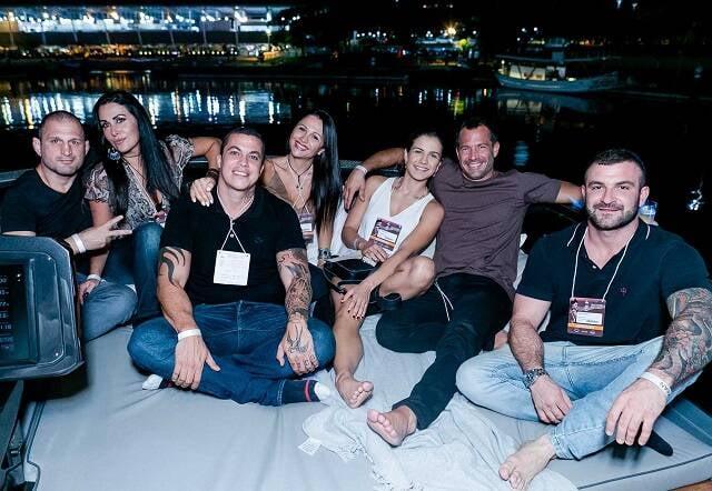Ralph Gracie, Giovana Martinelli, Pedro Lima, Flavia e Kira Gracie, Malvino Salvador e Diogo Develly