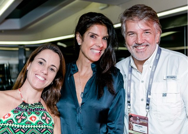 Samantha Leiras, Patrícia Brandão e Nercio Fernandes
