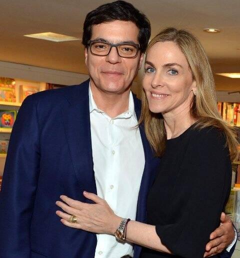 Ali Kamel e Patrícia Kogut