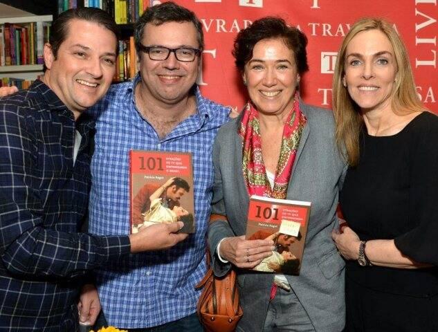 Marcelo Serrado, João Emanuel Carneiro, Lília Cabral e Patrícia Kogut