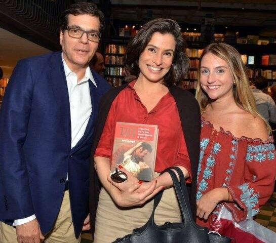 Ali Kamel, Renata Vasconcellos e Alice Kogut