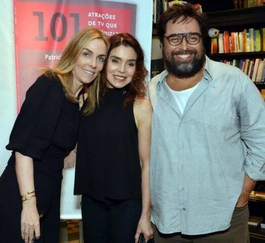 Patrícia Kogut, Françoise Forton e Eduardo Barata
