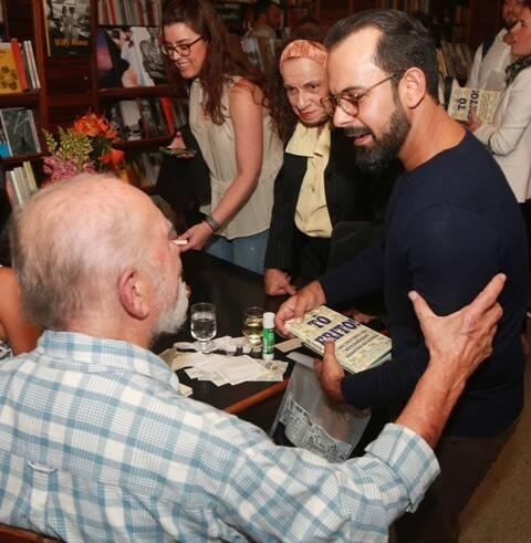 O ilustrador Pedro Vilella e o chef Onildo Rocha