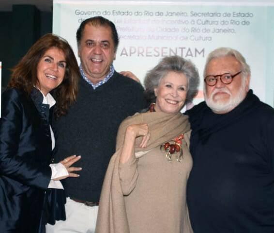 Lenise Figueiredo e Omar Catito Peres com Gisella e Ricardo Amaral