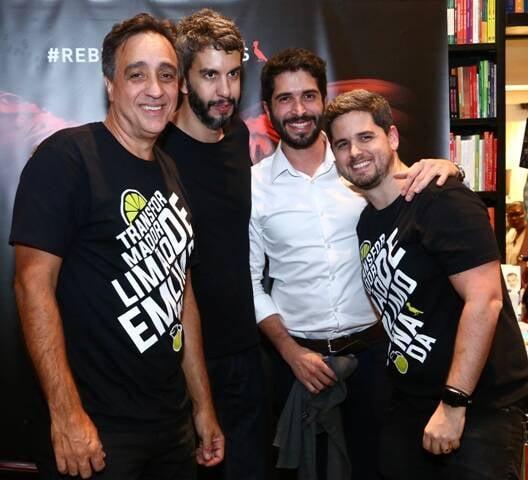 Sergio Pugliese, Igor de Barros, Felipe Siqueira e Rony Meisler
