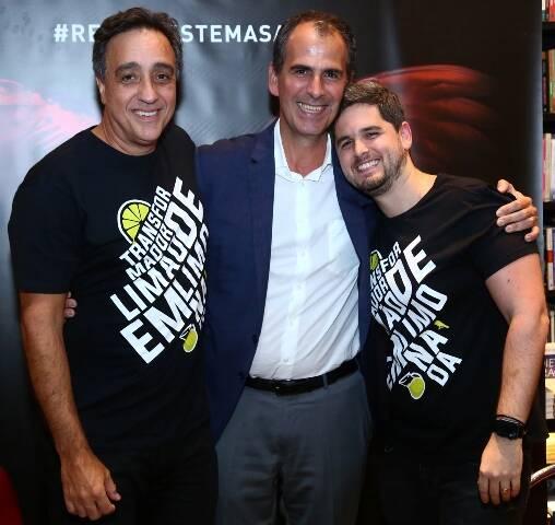 Sergio Pugliese, Marcos Pereira e Rony Meisler