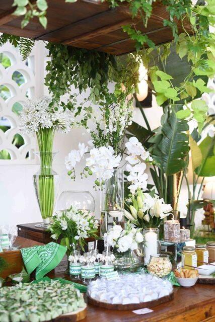 Parte da decoração feita pela autora Eliane Teixeira