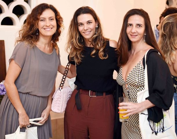 Lidia Machado, Juliana Piquet e Mary Bastos