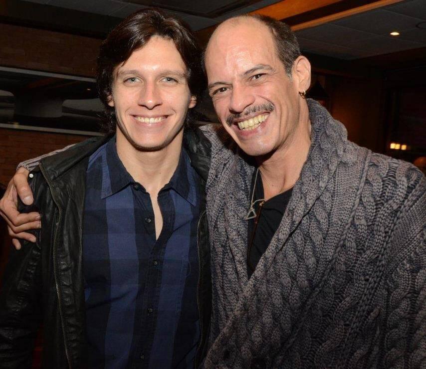 Lourenço com o pai, Arnaldo Brenha
