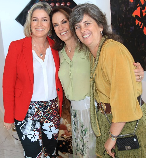 Márcia Peltier, Regina Martelli e Kika Gama Lobo