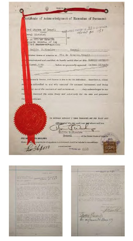 Primeiro contrato de com o produtor Lee Shubert assinado em 27 de março de 1939, no navio  Normandie EUA. Valo inicial de R$ 5 mil /Foto: Reprodução