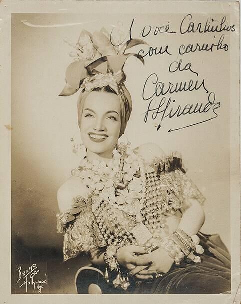 Foto de Bruno Bernard,  com assinatura no negativo e dedicatória a Carlinhos Niemeyer em outubro de 1945. Valor inicial de R$ 1 mil /Foto: Reprodução