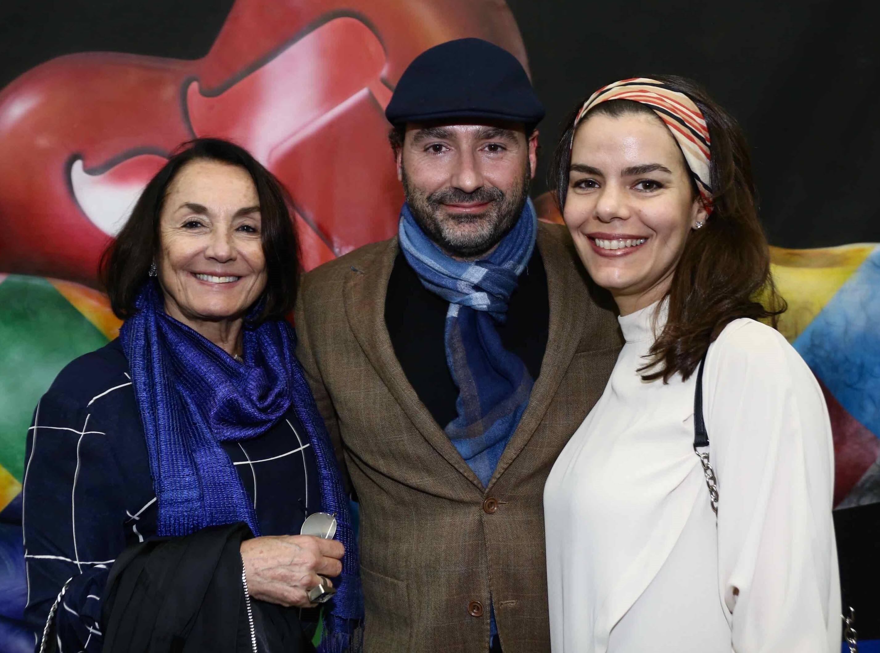 Maria Lucia e Fabio Segall e Vanessa Viana /Foto: Denise Andrade