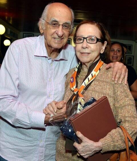 Zuenir Ventura e Fernanda Montenegro