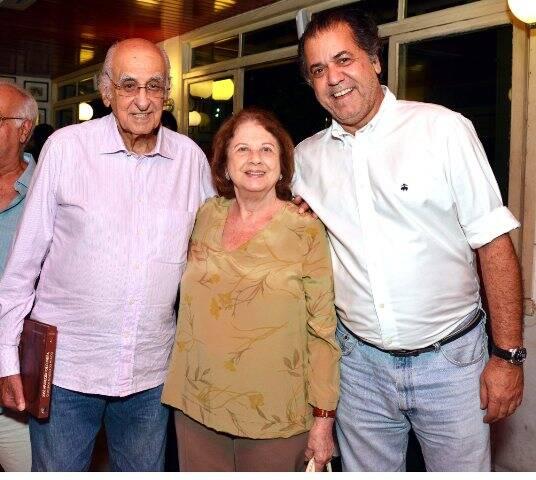 Zuenir e Mary Ventura com Catito Perez