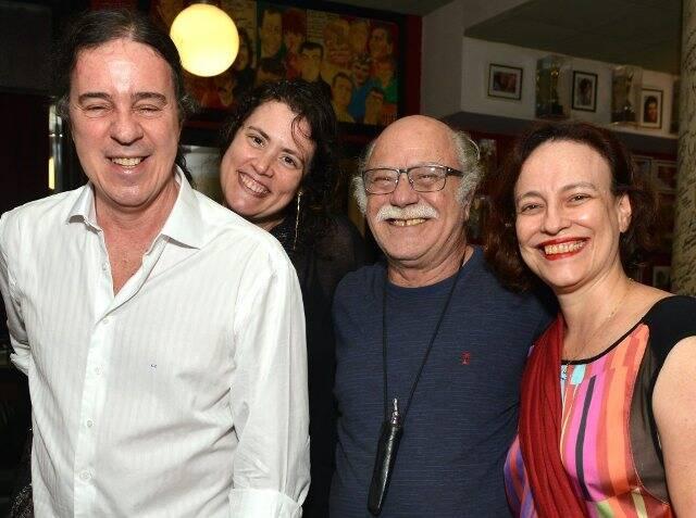 Geraldo Carneiro, Ana Paula Pedro, Tonico Pereira e Marina Maio