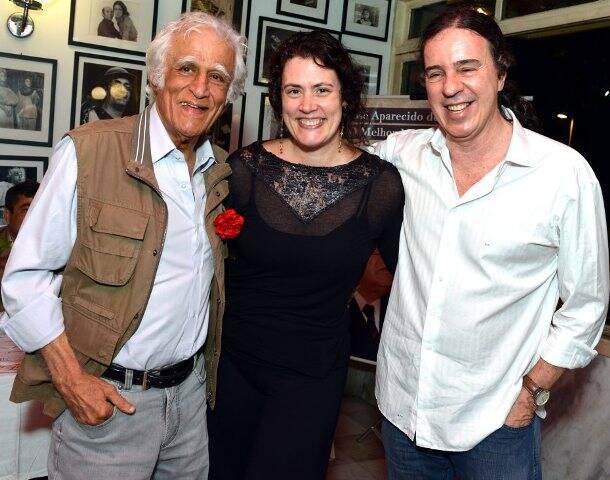 Ziraldo, Ana Paula Pedro e Geraldo Carneiro