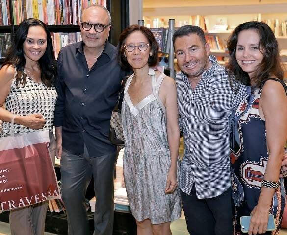 Valéria Guimarães, Arthur Casas, Chean Yok, Vitor Paladino e Cristiana Lobo