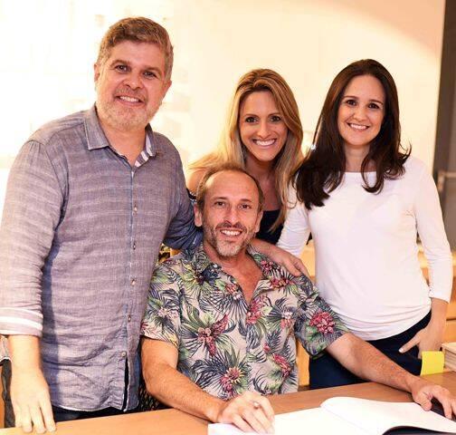Anderson Macedo, Denilson Machado, Fernanda Mancini e Lia Lamego