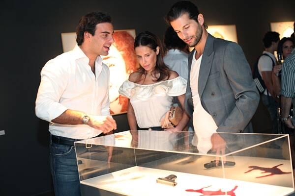 Alexandre Furmanovich, Ana Paula Junqueira e Lucio Salvatore, que recebeu no MuBe, em São Paulo