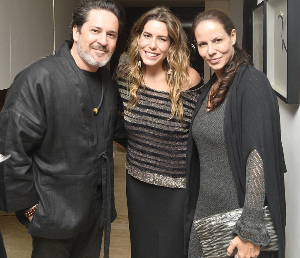 Celso Rayol, Luiza Bomeny e Carolyna Vaz /Foto: Divulgação