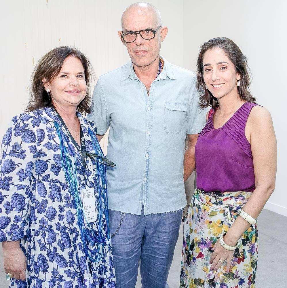 Nara Roesler, Zemog e Antonia Leite Barbosa /Foto: Bruno Ryfer, Miguel Sá e Túlio Thomé