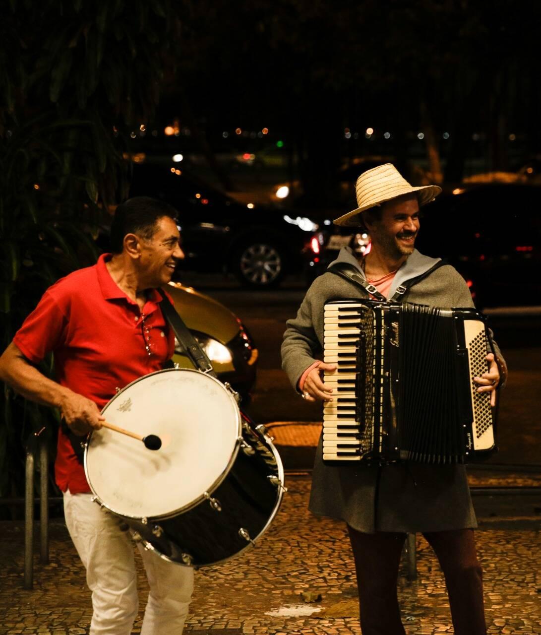 O duo toca a trilha de Marcelo Jeneci /Foto: Roberto Pontes