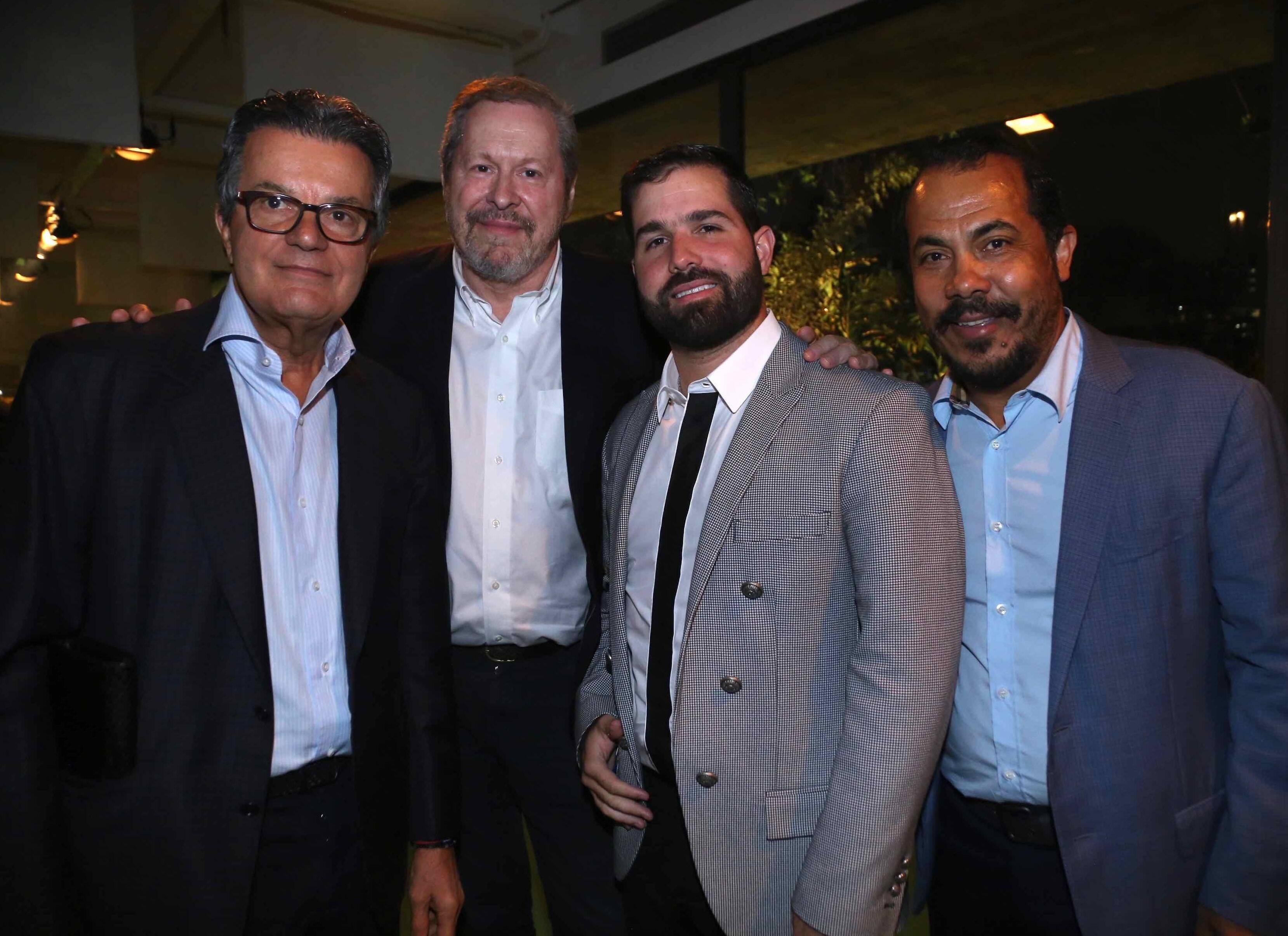 Ronaldi Coelho, Pedro Correa do Lago, Felipe Queiroz e Antonio Almeida /Foto: Denise Andrade