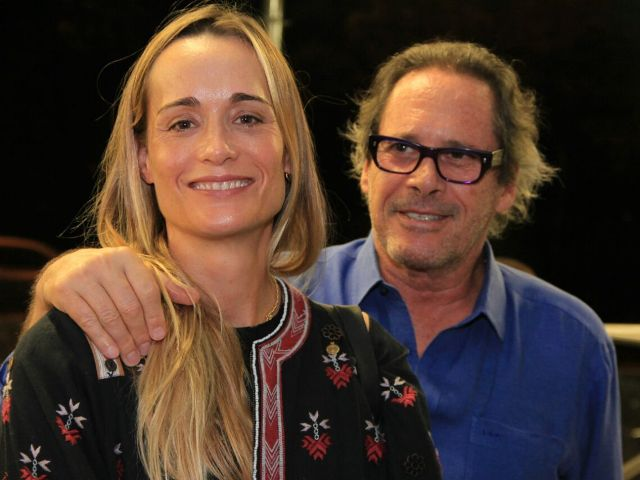 Juliana Overmeer com o cunhado, Luiz Osvaldo Pastore