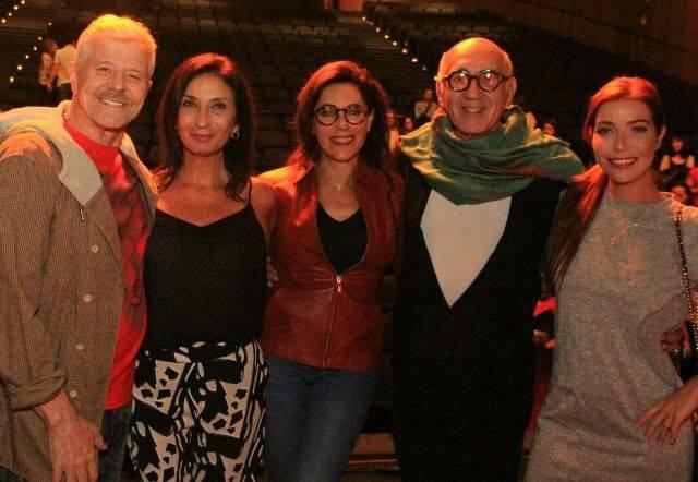 Miguel Falabella, Zizi Possi, Christiane Torloni, José Possi Neto e Luiza Possi
